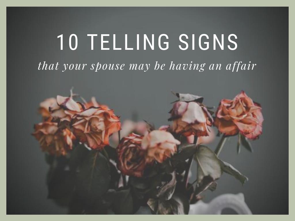signs a woman is having an affair