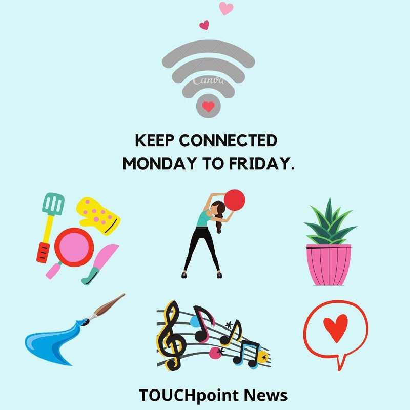 Learning to stay healthy and happy through TOUCHpoint News on WhatsApp